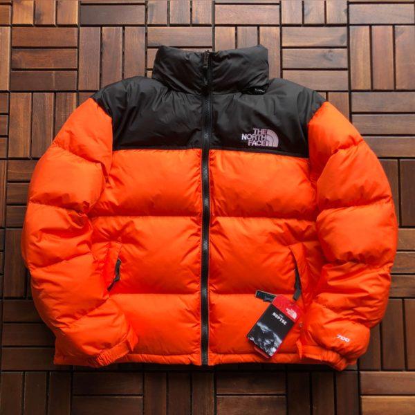 Doudoune orange The North Face 1996 RETRO NUPTSE UNISEX