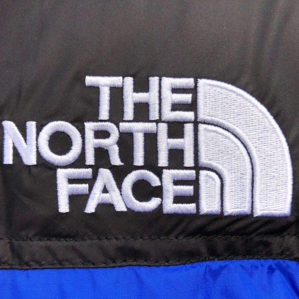Logo Doudoune North Face Bleu